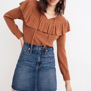 Madewell Rigid Denim Straight Mini Skirt